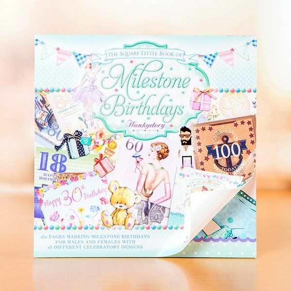 Hunkydory little square book of milestone birthdays