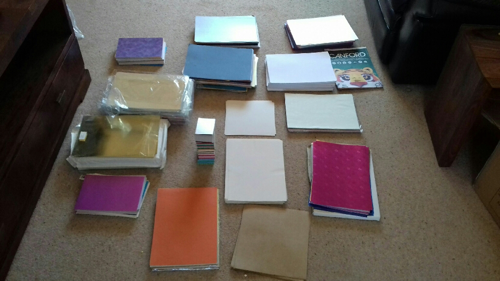 Craft supplies - paper and card