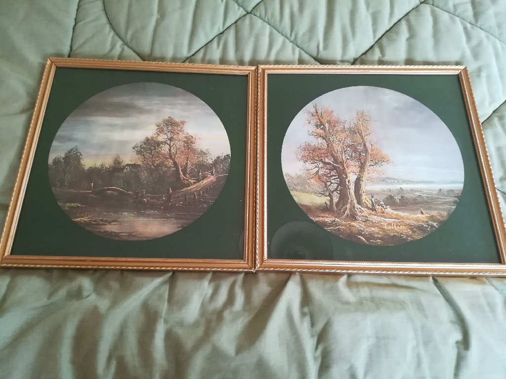 COLLIN watecolour paintings in antique frames