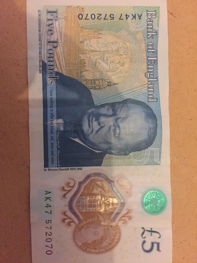 5 pound note AK47. 572070