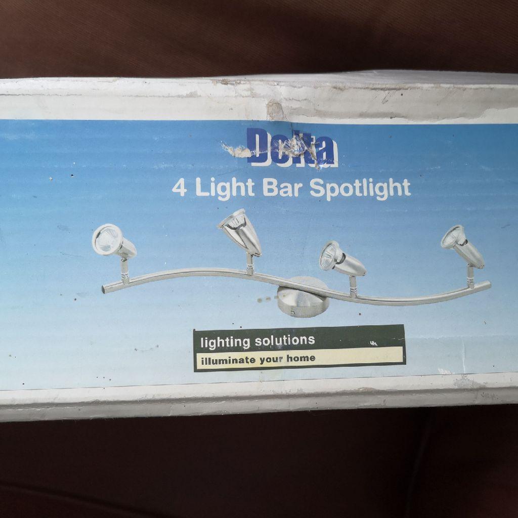 Satin Nickel 4 light bar spotlights x2
