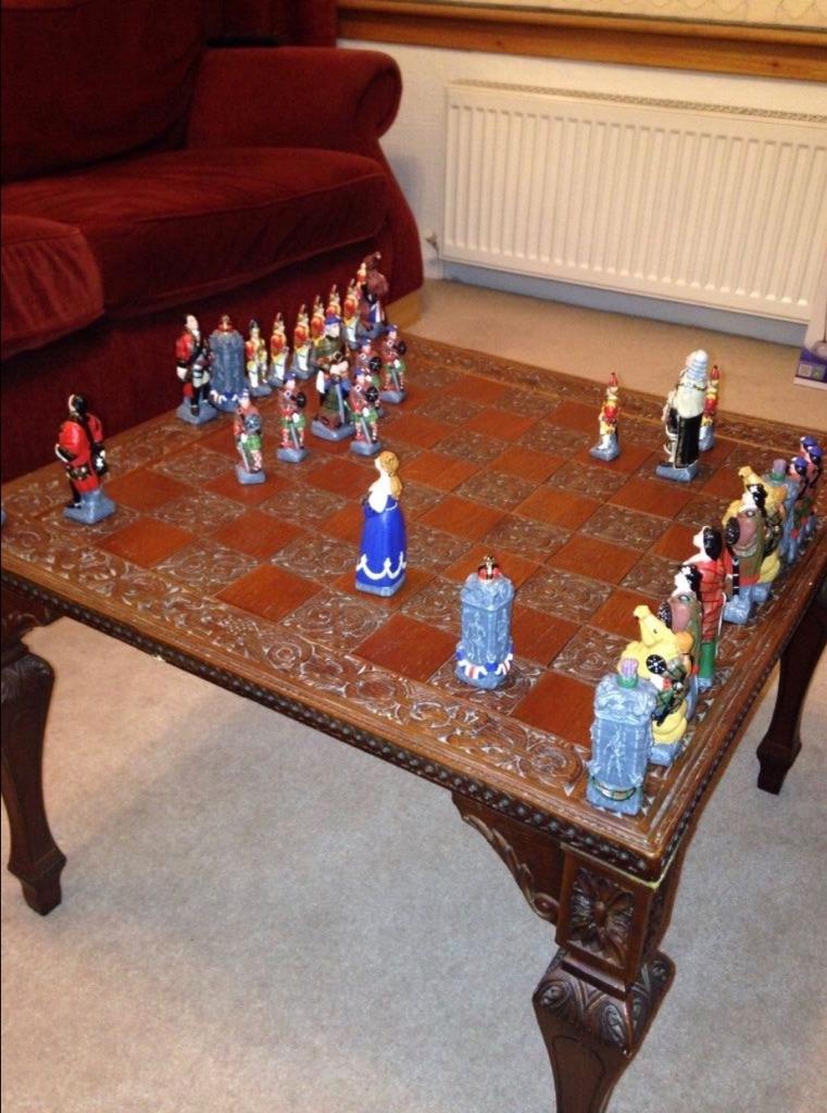 Antique Jacobite Chess Set