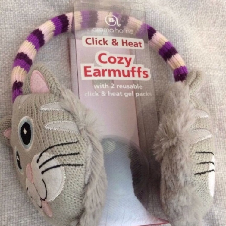 Click and heat cozy ear muffs