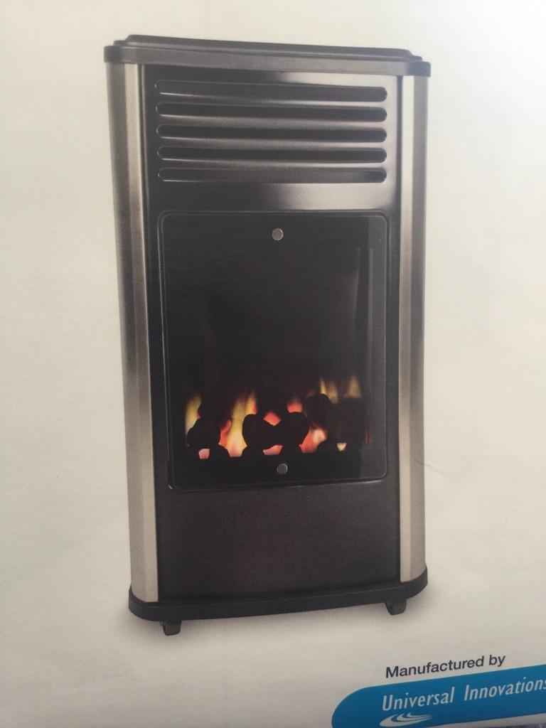 Manhattan portable living flame gas heater