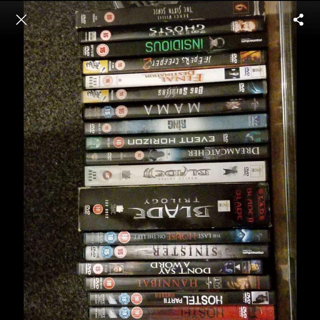 Joblot of horror dvds 28
