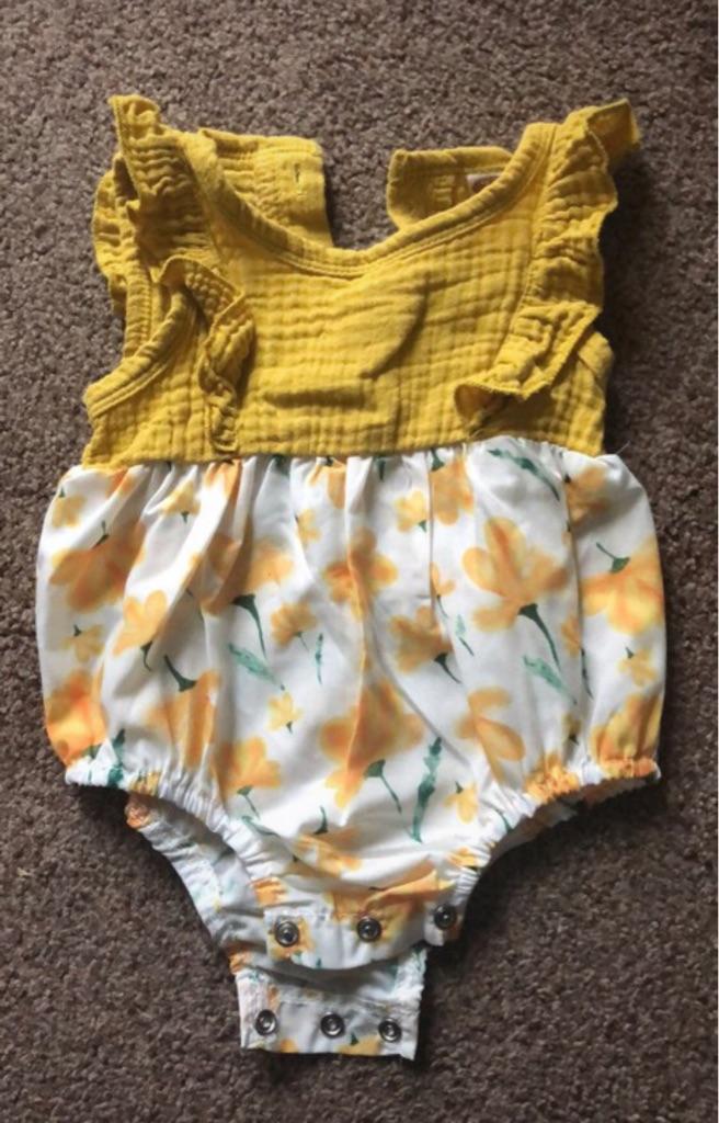 Baby girl yellow romper