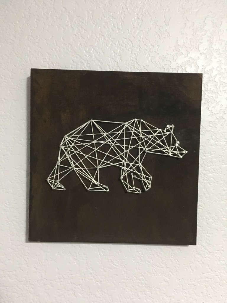 Bear String Art