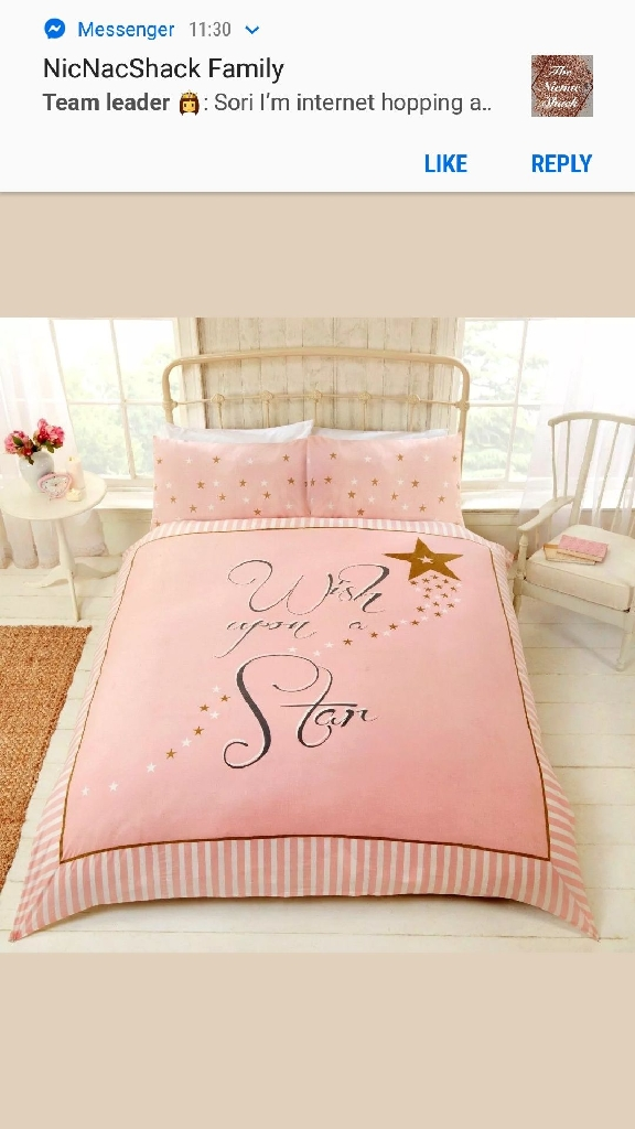 Wish Upon a Star Girls Duvet Cover Set - Pink & Gold