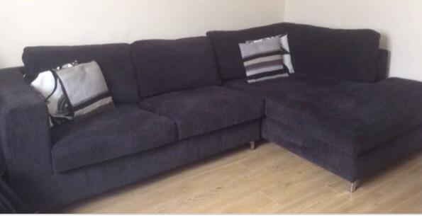 Sofaworks black corner sofa