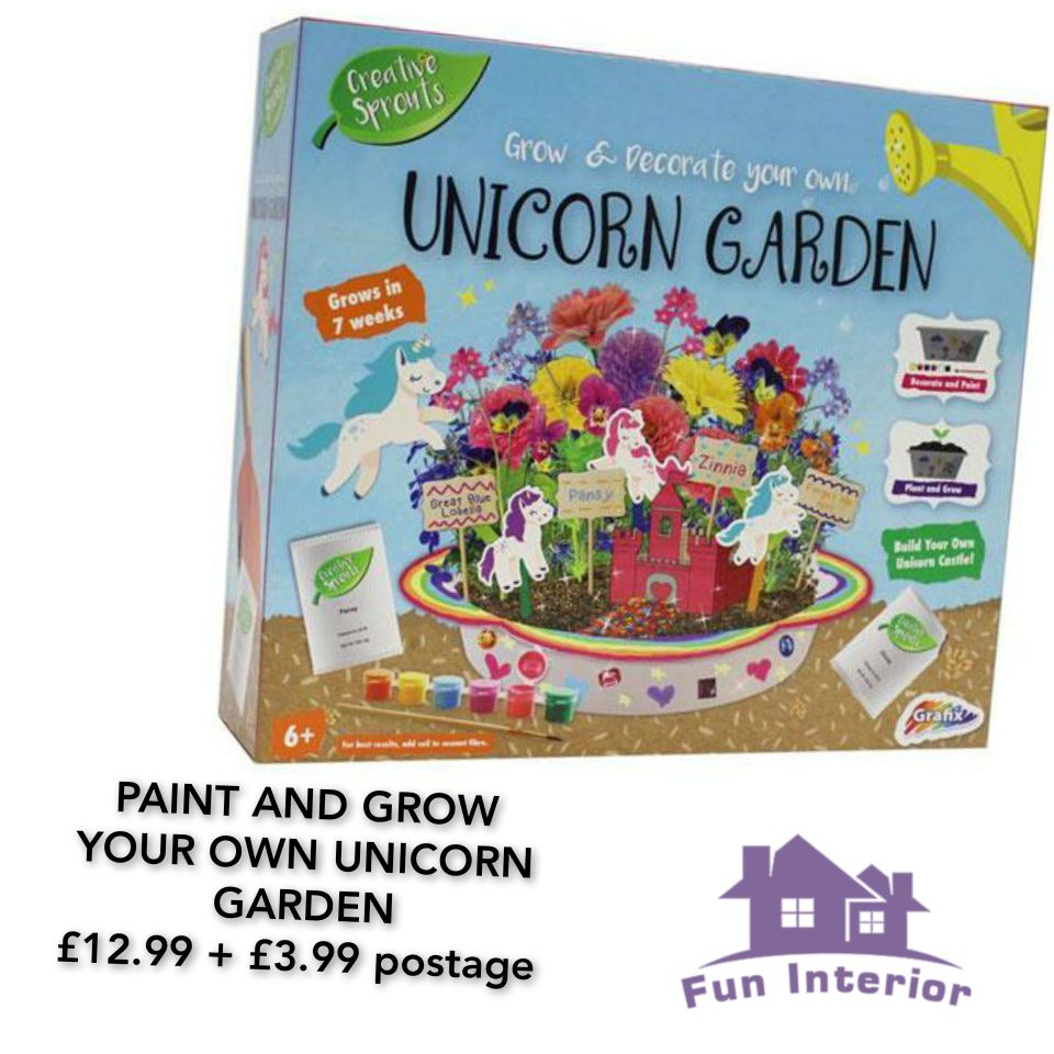 PAINT AND GROW YOUR OWN UNICORN GARDEN