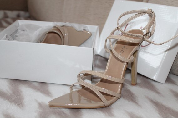 Nude barely there high heels (never used)