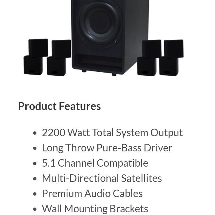 BNW ACOUSTIC 5.1 HD HOME THEATER SYSTEM