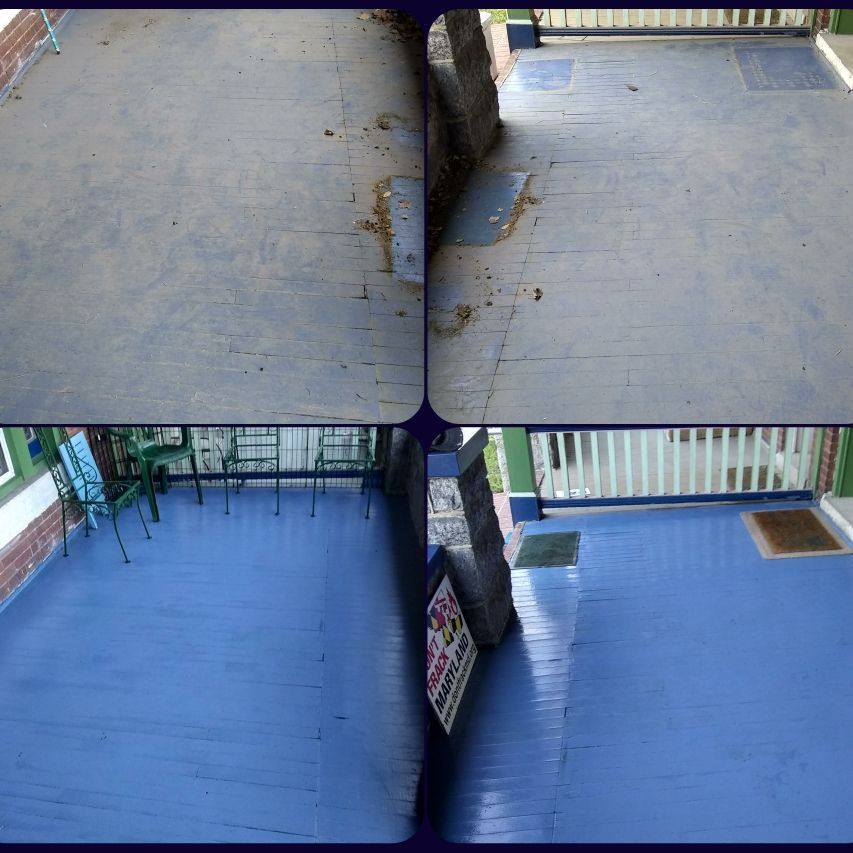 We can clean ur deck/porch