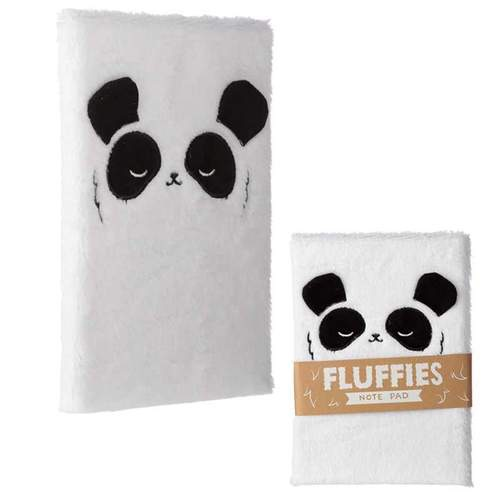 Fluffy plush notebook- panda design