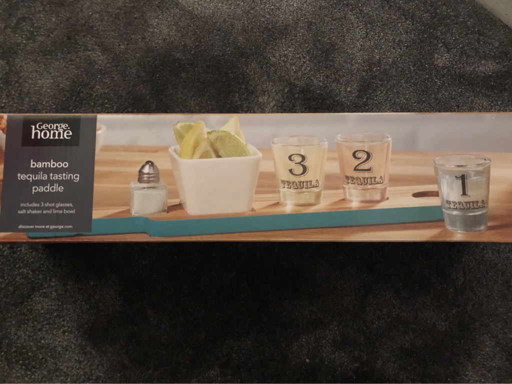 Bamboo Tequila Tasting Paddle BRAND NEW