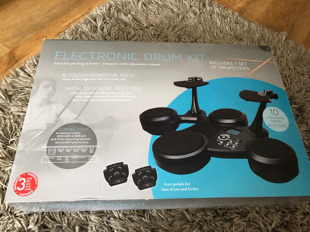 Table top electronic drum set