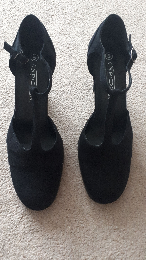 New Black Suede Shoes Size 5