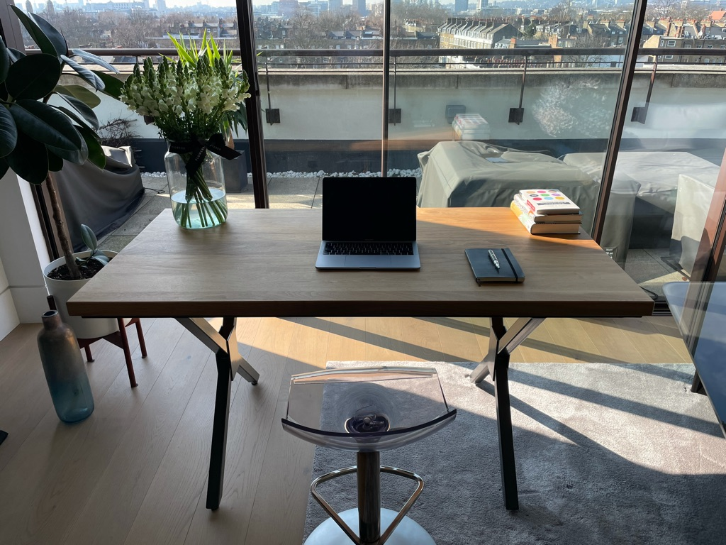 Wood and steel table / desk