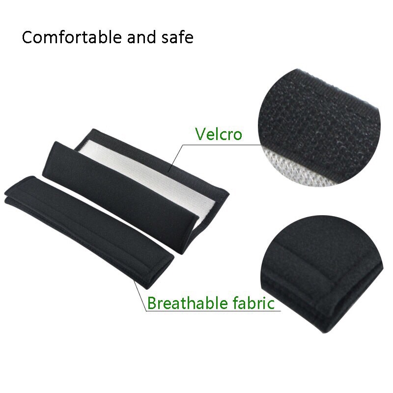 2X Car Suv Seat Belt Pads Gift Ssang Yong Rexton Turismo Musso Rodius