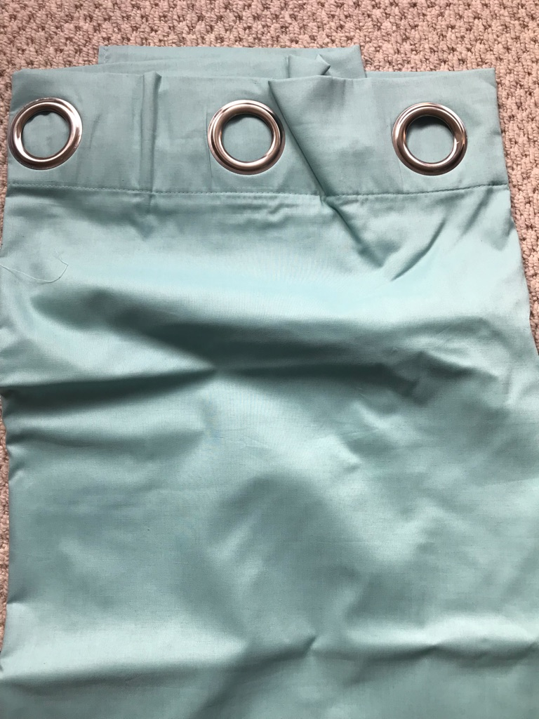 Reduced!! Fully Blackout Lined New Next Teal Curtains in Packaging