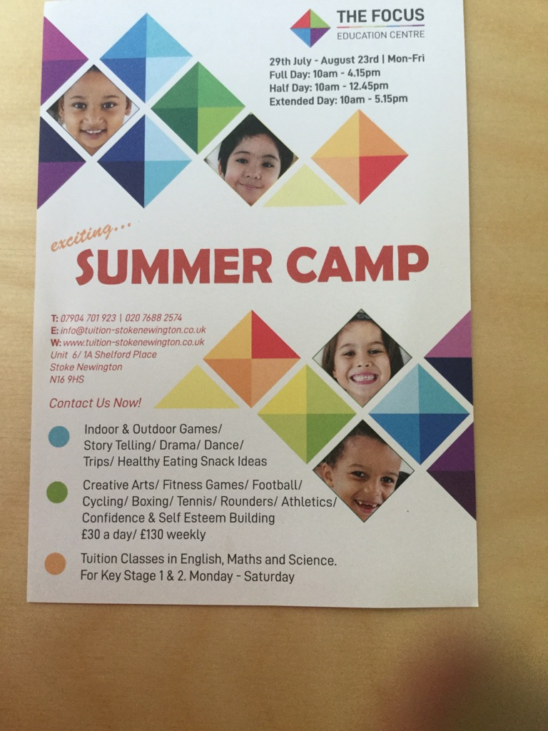 Summer Learning Summer Camp