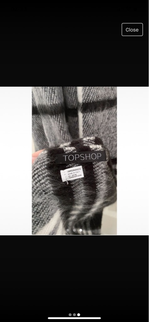 Topshop check scarf