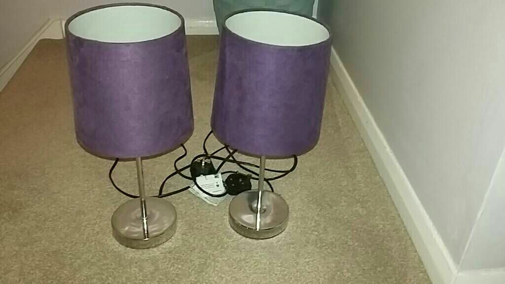 Purple touch lamps