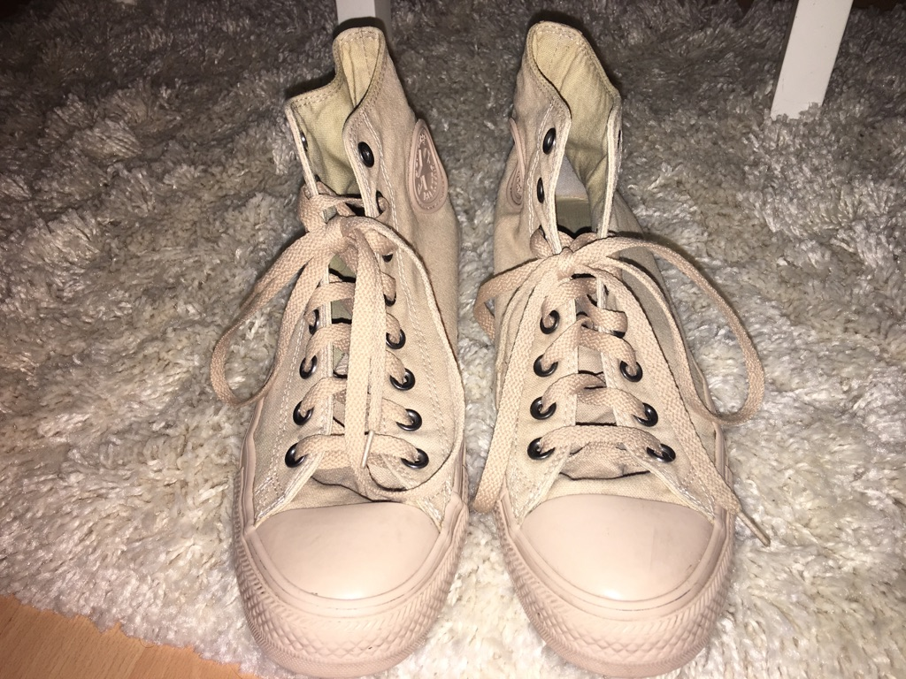 Tan sand converse all star HI