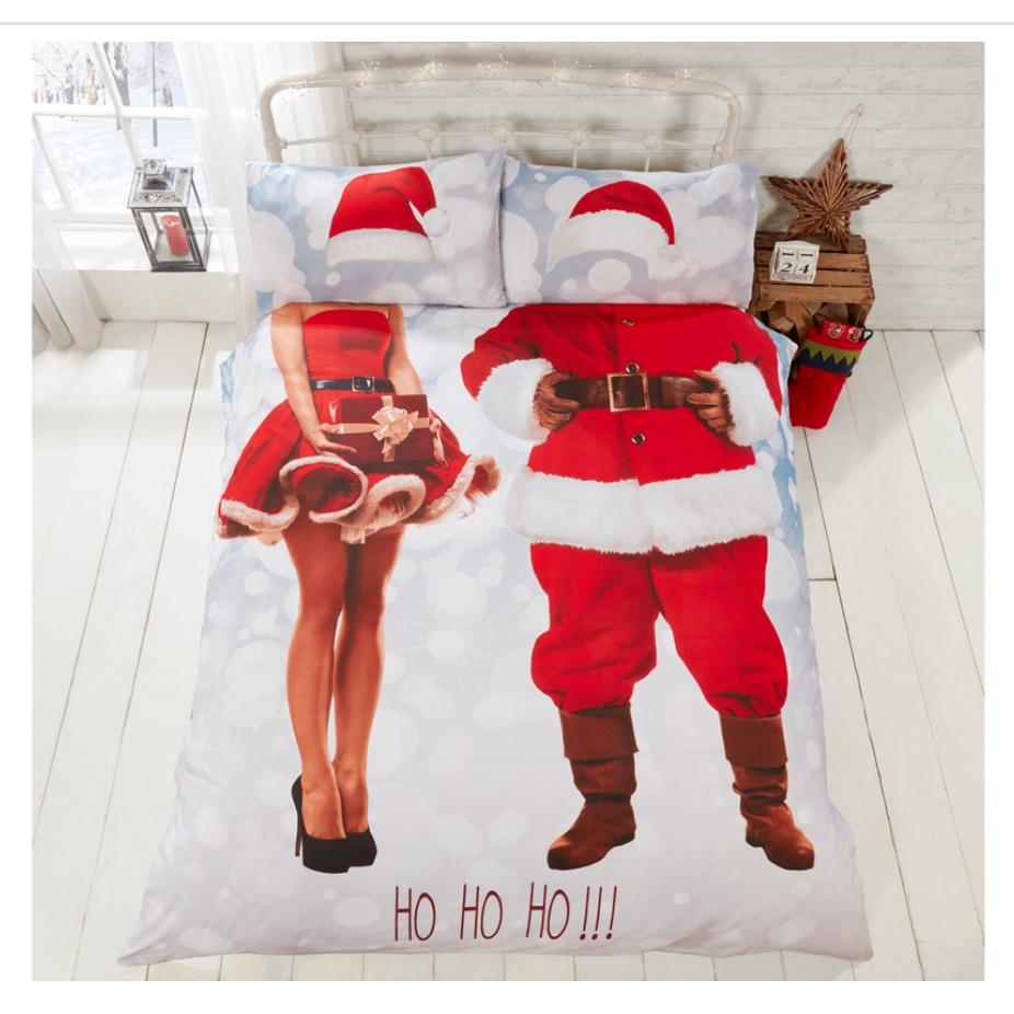 Mr & Mrs santa duvet set