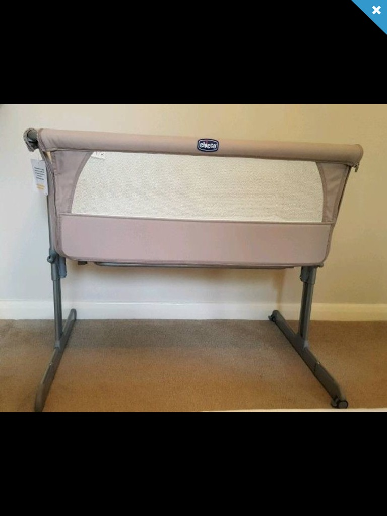 Chicco next2me cot crib Dove colour