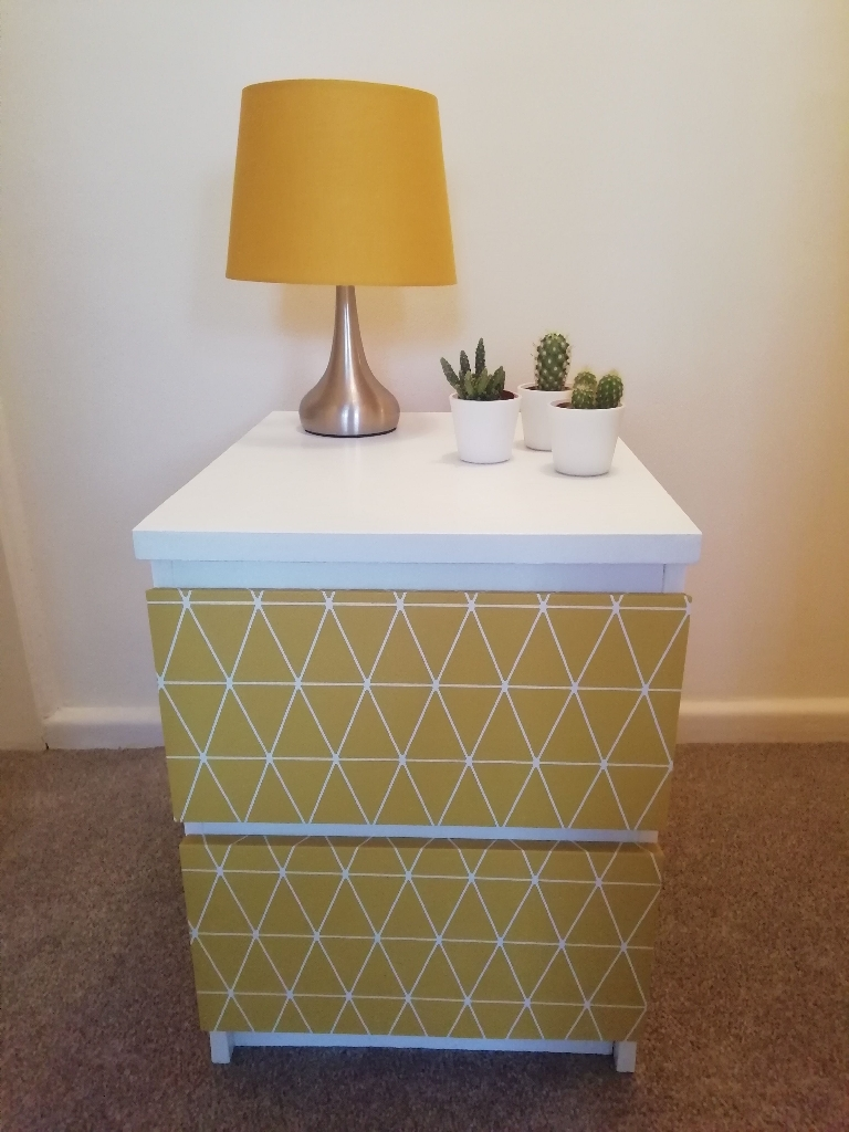Scandi Style Upcycled Bedside Drawers