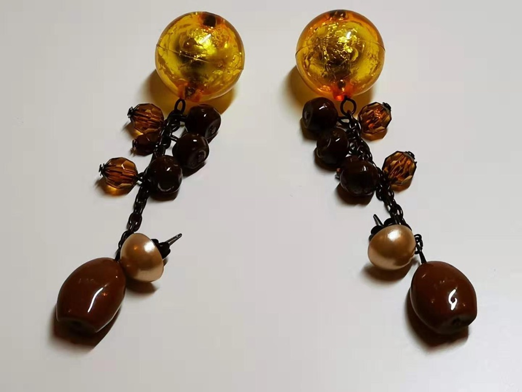 Chocolate Tome faux pearl Earrings