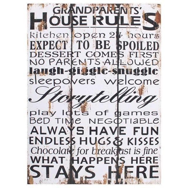 Grandparents House Plaque