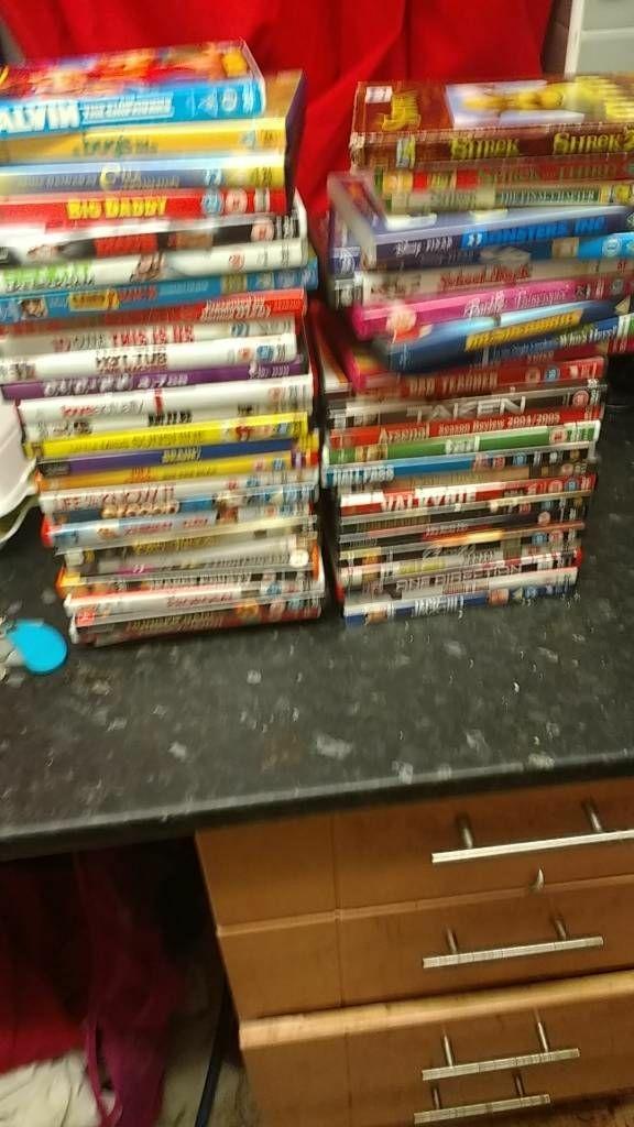 Job lot ocer 90 dvds