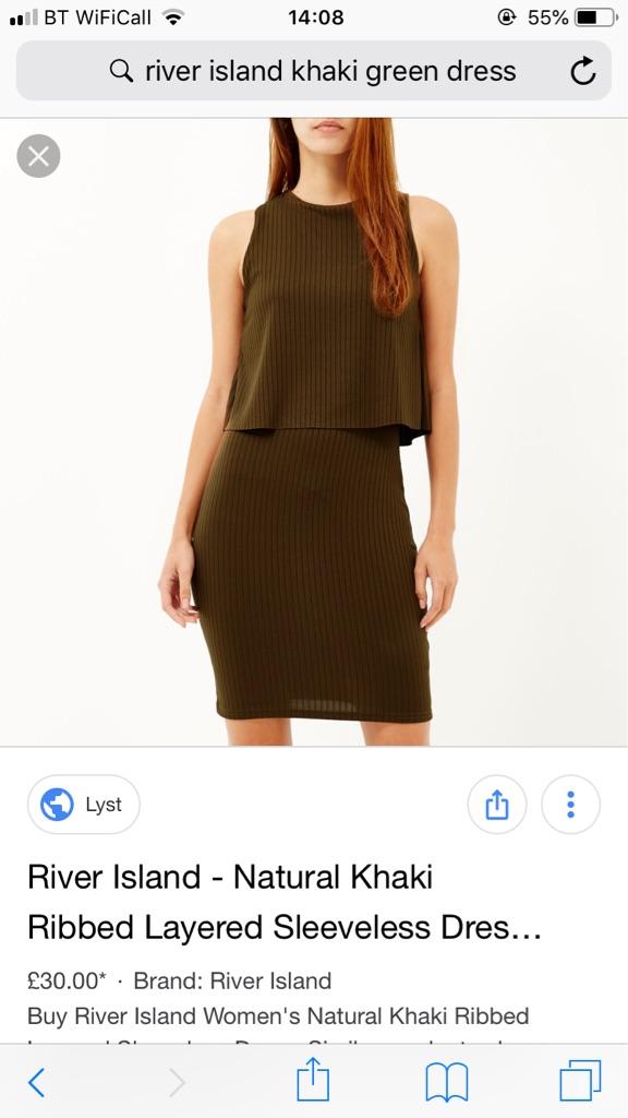 Green River Island Khaki Dress