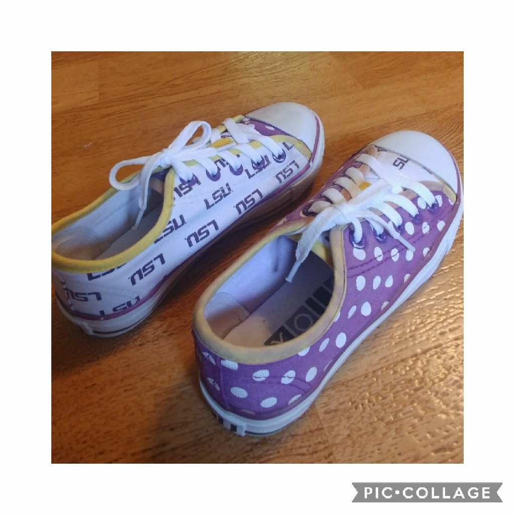 Girl's LSU Sneakers Size 2