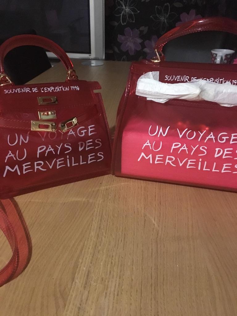 Graffiti transparent handbag
