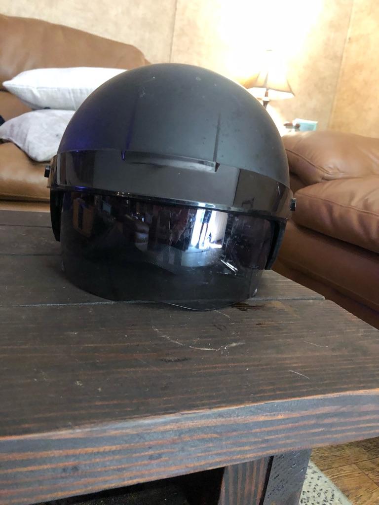 Black Harley Davidson motorcycle helmet