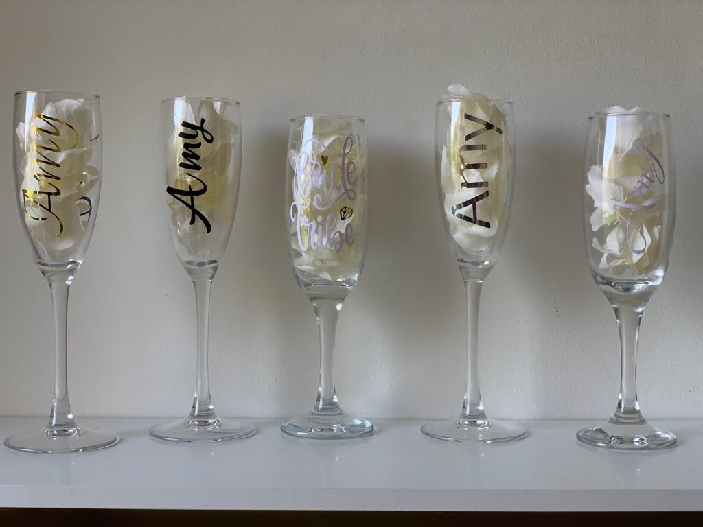 Custom Champagne Flute Vinyls