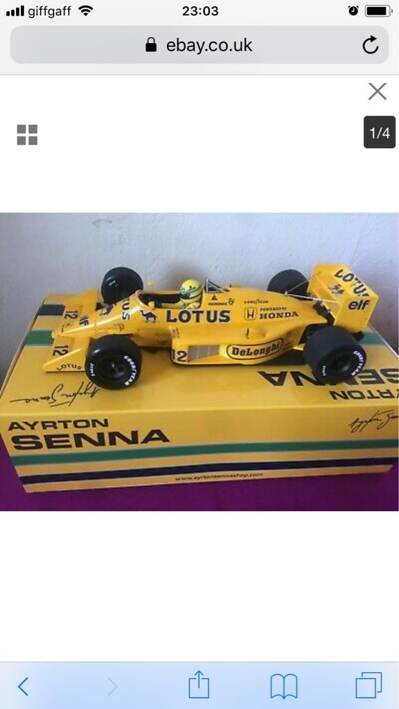 Ayrton Senna Lotus Honda