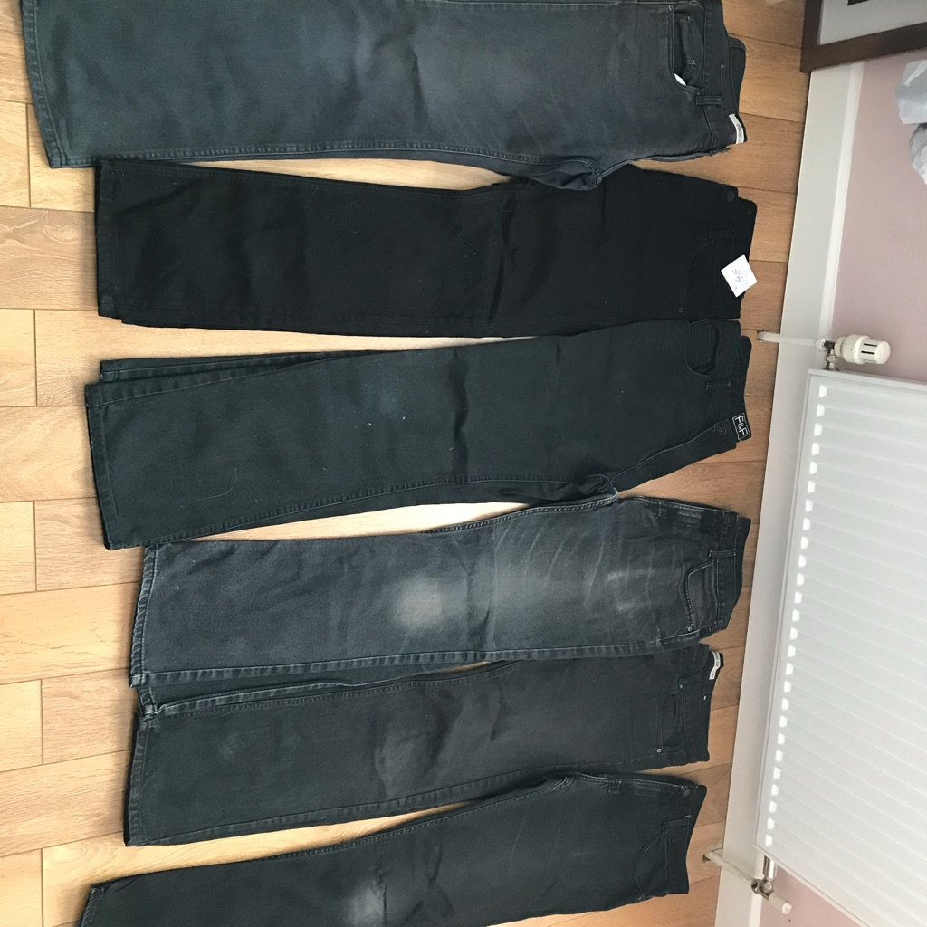 6 x black jeans 34 34