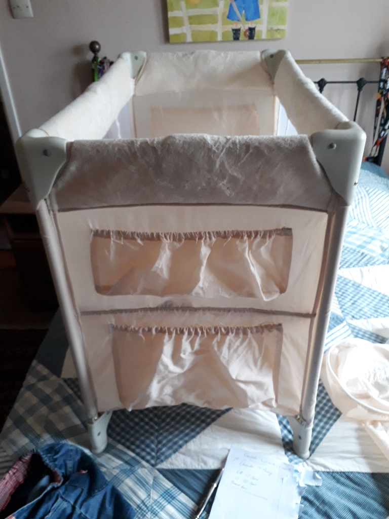 Small travel cot.