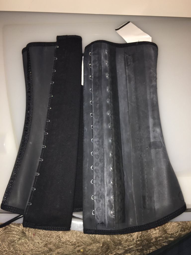 LATEX CORSET (claims to aids weight loss) size 8
