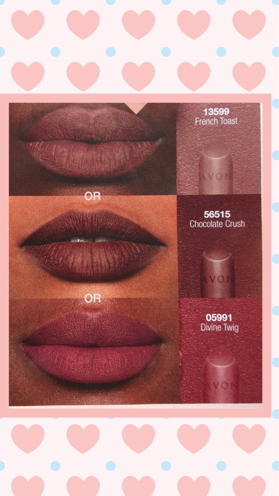 BRAND NEW SEALED SAMPLE OF AVON TRUE COLOUR PERFECTLY MATTE LIPSTICK-CHOCOLATE CRUSH-PURSE-TRAVEL-HOLIDAY