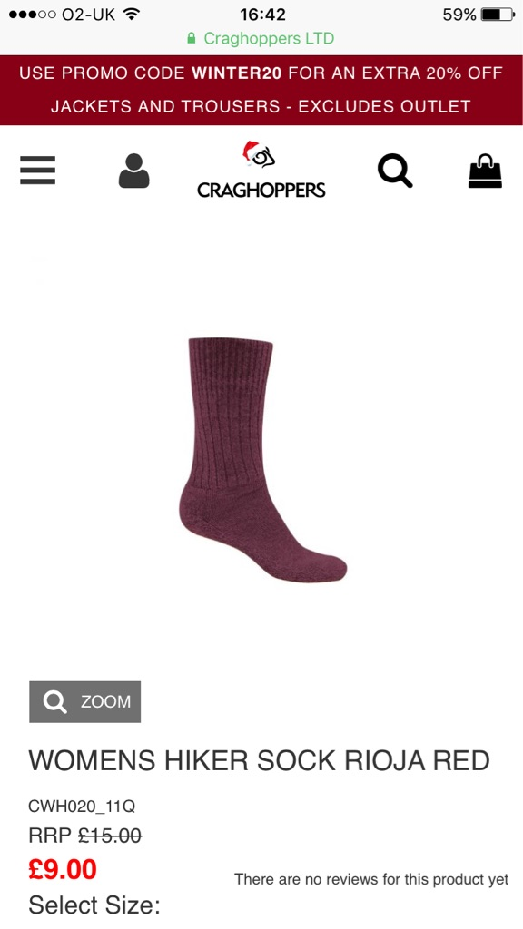 WOMENS HIKER SOCK RIOJA RED