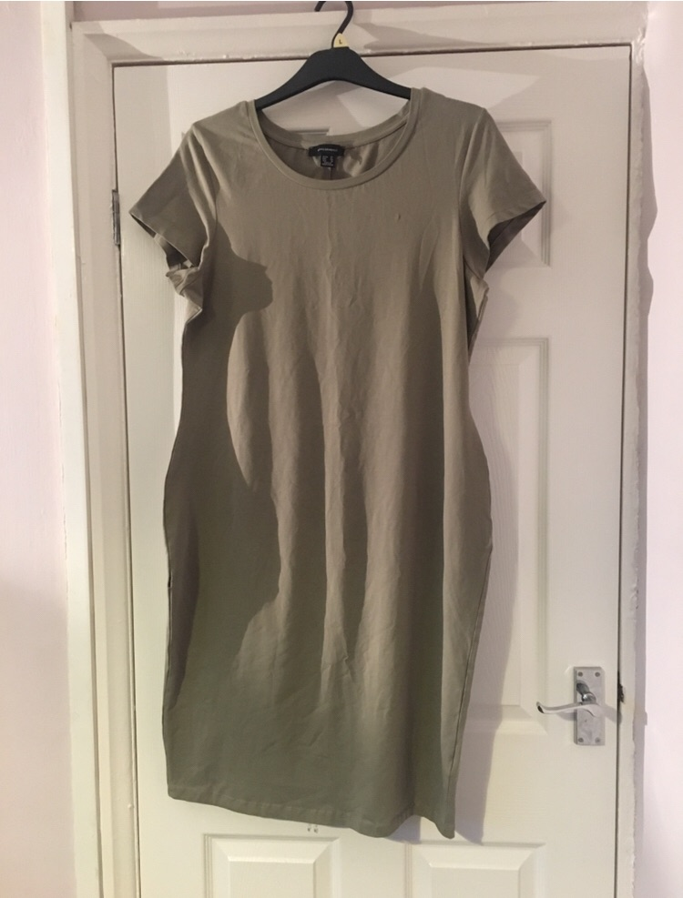 Khaki Body Con Dress Size 20 from Atmosphere
