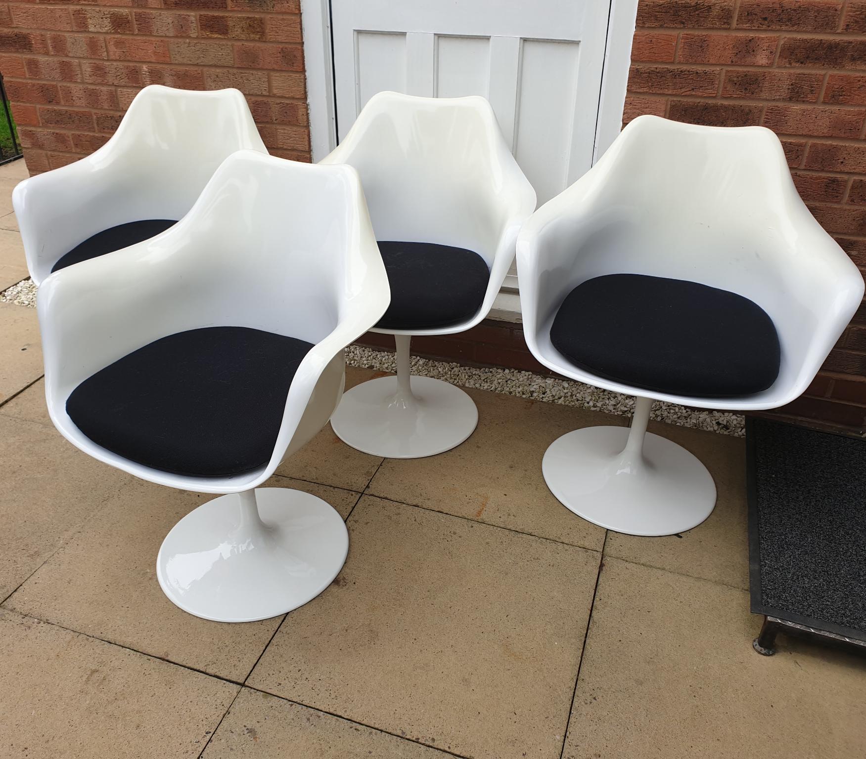 Mid Century Tulip Swivel Dining Chairs x 4 off