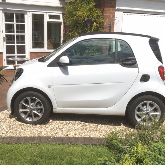 Smart car, model is Fortwo Passion Auto.