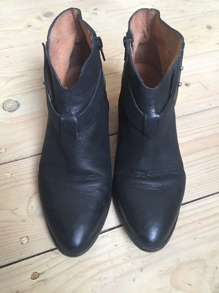 Black Leather Ankle Boots size 7
