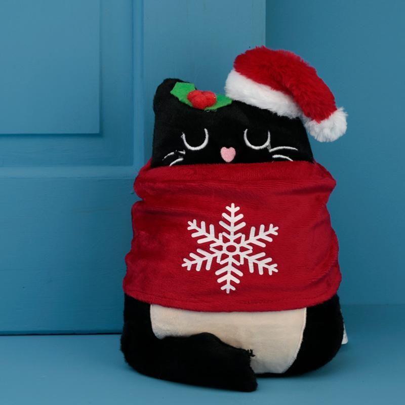 Christmas Cat Doorstop